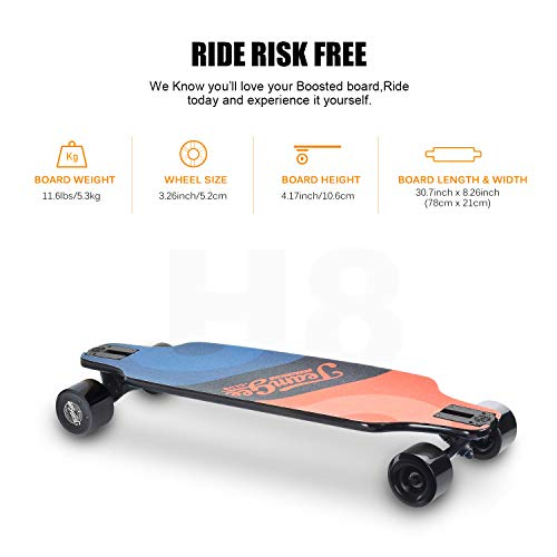 teamgee H8 31'' Electric Skateboard, 15 MPH Top Speed, 480W Motor, 8 Miles Range, 11.6 Lbs, 10 Layers Maple Longboard with Wireless Remote Control by Teamgee (Image #3)
