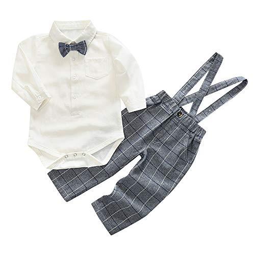 af38cae1eb5b5 Lucaso ベビー服 カバーオール フォーマル 赤ちゃん 子供服 男の子 新生児 紳士服 洋服 正装 長袖 可愛いオシャレ