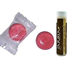 Eda's Sugar Free Bubble Gum Hard Candy, ONE POUND, Individually Wrapped, OU Parve, Uses Sorbitol, Sodium Free with a Jarosa Chocolate Bliss Lip Balm by Jarosa Gifts