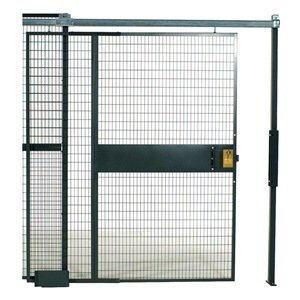 WireCrafters SD5812 840 Specs Slide Door Woven Wire Partition, Gray by Wirecrafters