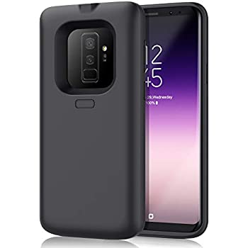 OUYAWEI Portable High Capacity External Charging Case 7000mAh Extended Battery Protective Case for Galaxy S9//S9Plus Black S9