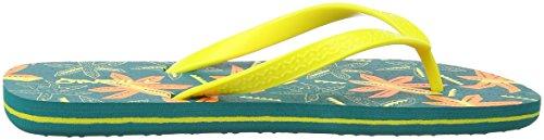 ONeill FB Profile Pattern Flip Flops, Chanclas Para Niños Grün (6920 Green Aop W/ Yellow)