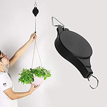 Amazon.com: Macetas colgantes ajustables de polea para ...