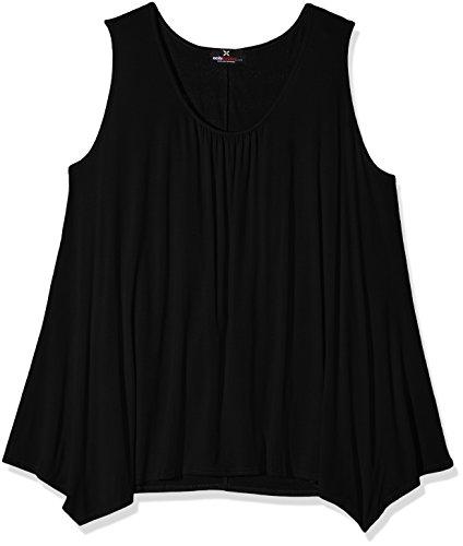 Exciteclothing Plusslouch, Camiseta sin Mangas para Mujer negro