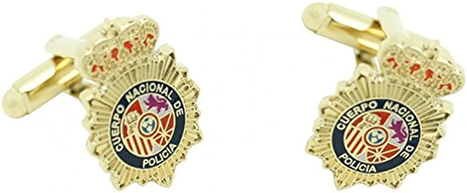 MasGemelos - Gemelos Placa Policia Nacional Cufflinks: Amazon.es ...