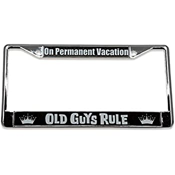Amazon Com Old Guys Rule License Plate Frame Aged To