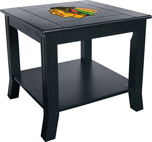 Imperial Officially Licensed NHL Furniture: Hardwood Side/End Table, Chicago Blackhawks ()