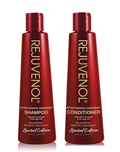 Rejuvenol Keratin After Treatment Shampoo 10oz & Conditioner 10oz DUO Set (Best Shampoo And Conditioner After Keratin Treatment)