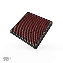 K&N 33-2966 Filtro de Aire Coche, Lavable y Reutilizable