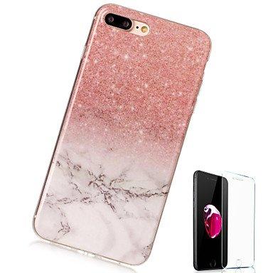 Fundas y estuches para teléfonos móviles, Funda Para Apple iPhone X iPhone 8 Plus Diseños Cubierta Trasera Mármol Suave TPU para iPhone X iPhone 8 Plus iPhone 8 iPhone 7 Plus ( Modelos Compatibles : I IPhone 7