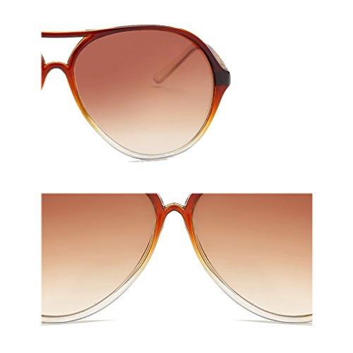 Transparent Thin Cara Redonda Transparent Sunglasses Hombres Personalidad Mirror WANGXIAOLIN x7qwTX