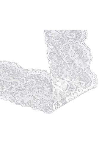 Used, HOUSWEETY 10 Yards White Stretch Floral Scallop Lace for sale  Delivered anywhere in Canada