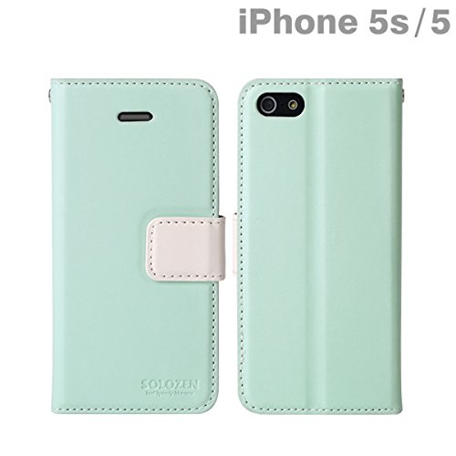 Solozen Hit iPhone 5 Diary Case (Sky Blue/White)