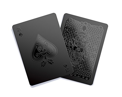 Gent Supply Black Waterproof Playing Cards - Day of The Dead Edition ()