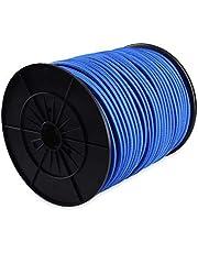 Ferrestock FSKPUL810BL Bobina de 100m de Cuerda elástica Redonda para pulpos de Goma de 8mm, Azul, 8 mm