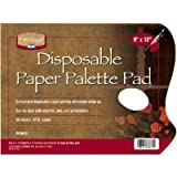 6 Pack PAPER PALETTE PAD 9x12 50 SHT Drafting, Engineering, Art (General Catalog)