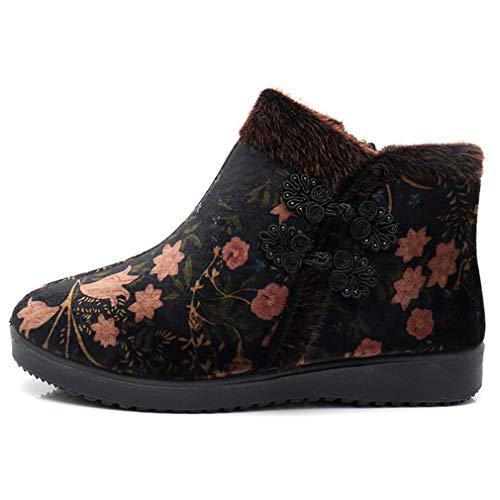 Altas Invierno Mujer Y Botas Cómodos Algodón Caminar Mocasines Segundo Zapatos De Madre Cálida Casuales Para Yan Gruesas xYHBqW