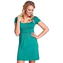 Glamour Empire. Womens Jersey Dress. Empire Waist Square Neck Short Sleeve. 081
