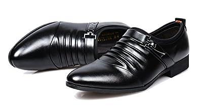 Mens Leather Lined Formal Dress Shoes Monk Strap Slip On Business Loafer Shoes