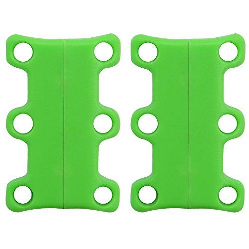 Soumit® 1 Par de Especial Novedad Moda Mini Casual Rápida Cordón Hebillas de Soporte con Cierre Magnético Verde Verde