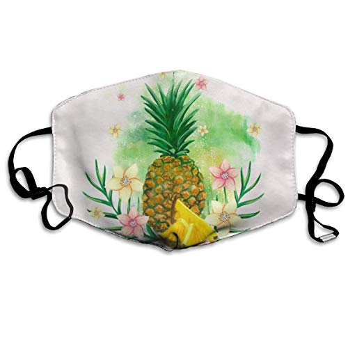 Mouth Mask Tropical Plants Pineapple Funnny Earloop Mouth
