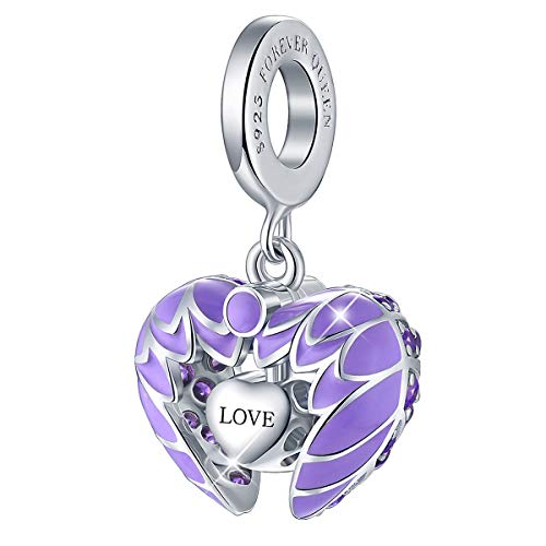 bb278a69b I Love You Charm, Key to My Heart Dangle Charm, 925 Sterling Silver Open