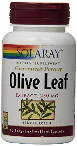 Solaray Olive Leaf Extract Supplement, 250 mg, 60 Count by Solaray