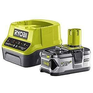 Ryobi RC18120-140 - Pack cargador 1 h + 1 Batería Litio-Ion 18V 4,0 Ah