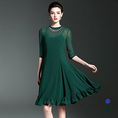 Primavera Y Falsos Colores Dos T Shirt El green Vestido Verano La ZHUDJ pfCwxqA5