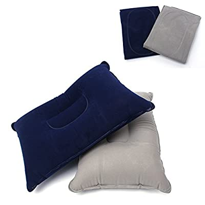 EKLOEN 2-Pack Ultralight Compact Inflatable Pillow, Perfect for Camping and Travel