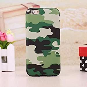 YXF Camouflage Pattern TPU Cover for iPhone 6 (Assorted Colors) , Blue