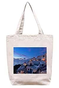 Diseño de Santorini - de Grecia algodón bolsa para herramientas de lona