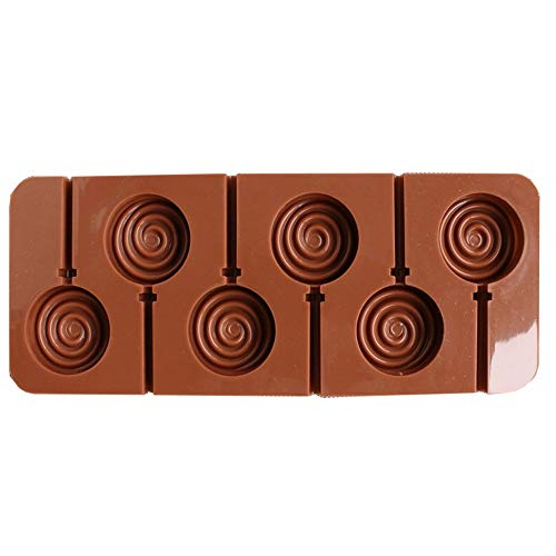 xatos Chocolate Mold Sticks Silicone Mold Love Lollipop DIY Chocolate Mold Cake Decoration Mold Cupcake Mold Small Mini ()