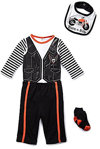 Starting Out Born to Ride Motorcycle 4 Piece Set - New Born