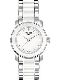 Tissot Women's T0642102201100 Cera White Dial Ceramic Watch