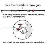"""Geekhigh Blowguns 36"""" .40 Caliber Blowgun Kit with"""