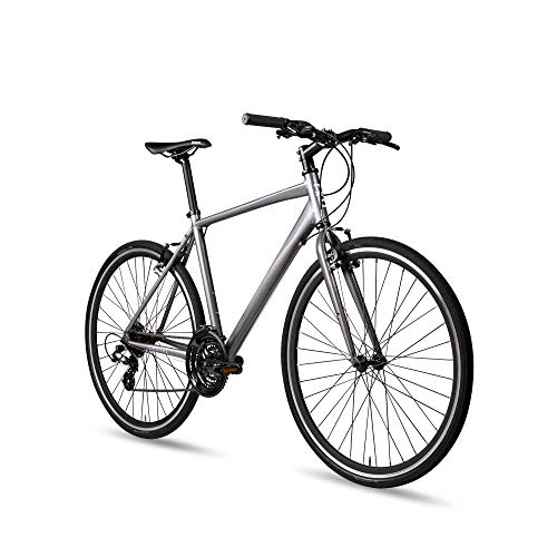 6KU Canvas Hybrid Bike, 24-Speed Urban City Commuter Bicycle
