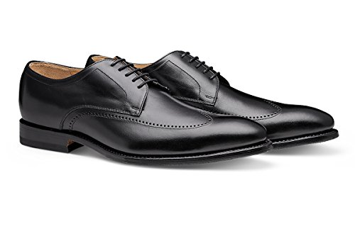MORAL CODE Men's Leather Wingtip Shoe Jamison Black Leather 10.5 M US Men ()