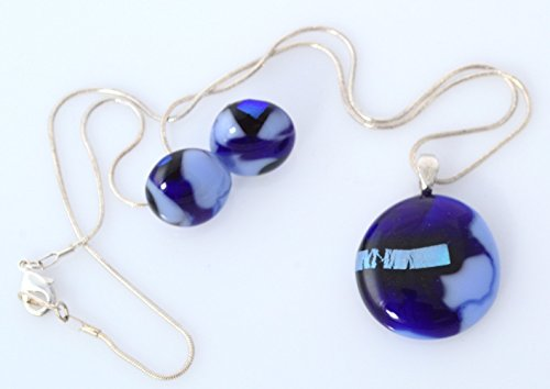 beautiful-handmade-jewelry-set-dichroic-glass-pendant-necklace-earrings-set-blue-light-blue-cyan-dic