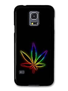 Weed Marijuana Leaf Jamaican Colours Cool Design case for Samsung Galaxy S5 mini