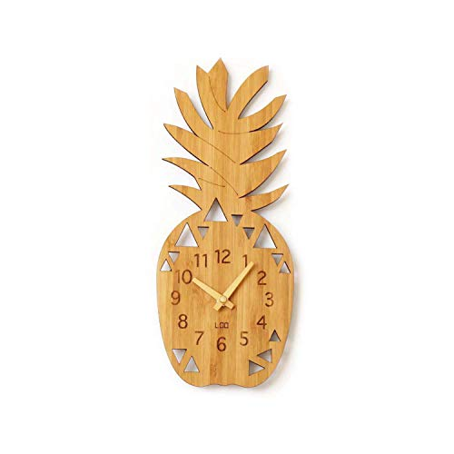 (homeloo Bamboo Wood Wall Clock (Pineapple))