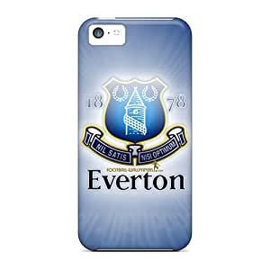 Scratch Protection Hard Phone Case For Iphone 5c With Custom Realistic Football Club Everton Image AlissaDubois