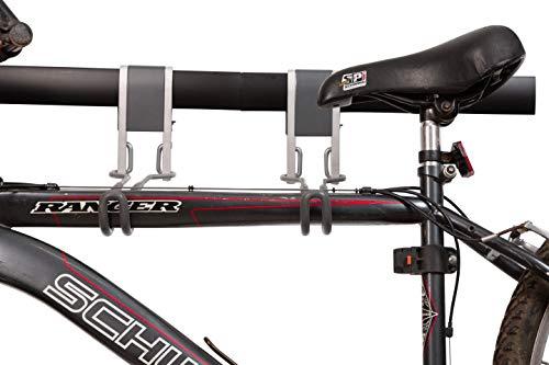 "(StorageMaid Horizontal Garage Bike Rack System - Storage System Organization - Flat Bicycle 32"" Track & Hook Kit - Powder Coated Rust Resistant Steel – 750 lb. Capacity)"