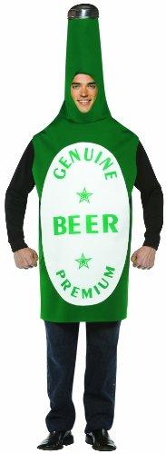 Rasta Imposta Lightweight Beer Bottle Costume, Green/White, One Size - Bottle Of Beer Costume