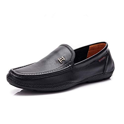 on pelle da barca Mocassino vera Mocassini 24 Loafers 0cm Bianco 27 Slip Scarpe Hcwtx da da Giallo gommino Comfort uomo Nero Penny Nero Dimensioni 0cm Mocassini in guida EwqxYE604