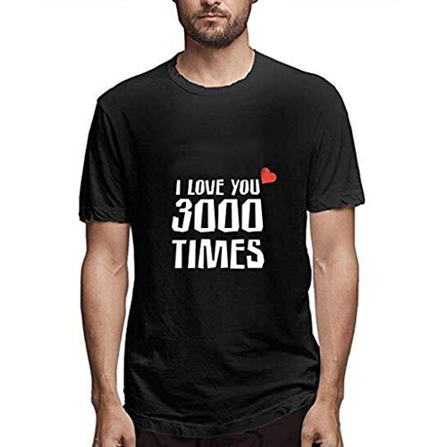 ❂ I Love You 3000 Times The Avengers VJGOAL/® T-Shirt Donna Divertenti Scritte VJGOAL/® Eleganti Scollo a v T-Shirt Donna Tumblr Estive Economiche Bianca Maglietta Donna Maniche Corte Cotone Aderente