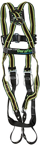 Miller by Honeywell E650-58/UGN DuraFlex 650 Series Full-Body Stretchable Harness with tongue Buckle Legs Straps and Side D-Rings, Universal, Green by Honeywell (Image #1)
