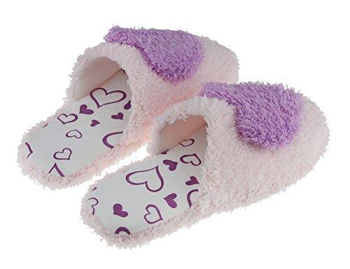 Size 37 Winter Violett Anti Herzen Slippers Hausschuhe Damen Niedliche Rutsch 36 Hausschuhe Plüsch Hausschuhe Pantoffeln Mädchen Herbst Süße aT6Fx