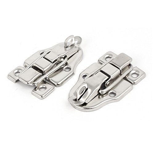 Tool Box Latches - Uxcell a16122100ux0414 Wood Box Toolbox Cabinet Metal Spring Loaded Latches Catch Toggle Hasp (Pack of 2)