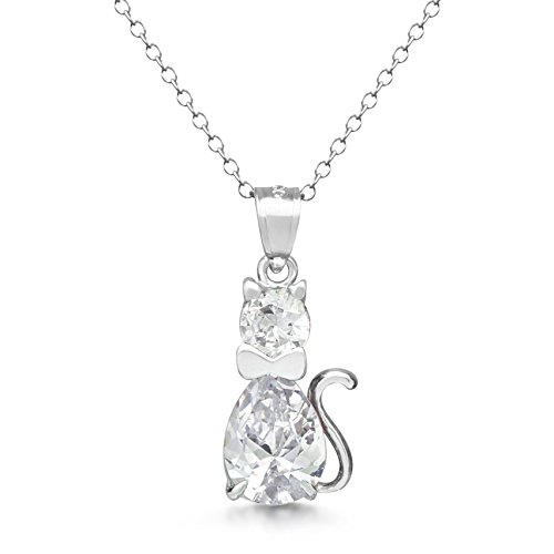 Sterling silver simulated birthstone cz fancy cat pendant charm sterling silver simulated birthstone cz fancy cat pendant aloadofball Choice Image